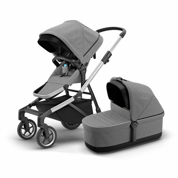 Thule Sleek barnvagn Grey Melange