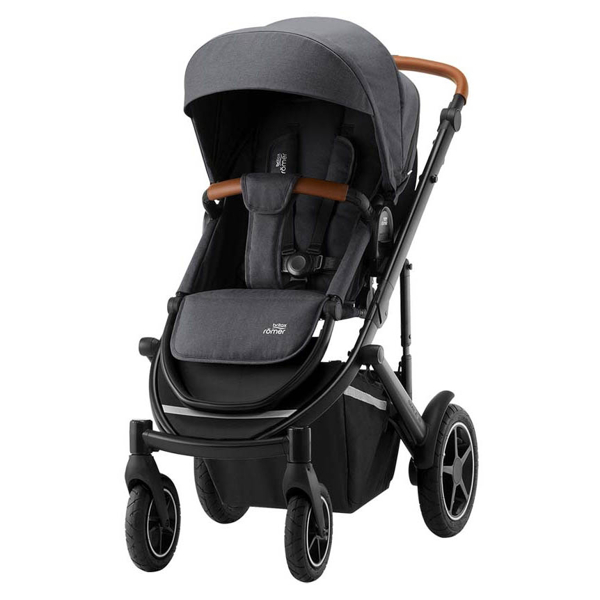 Britax Smile 3 duovagn Space black/Brunt handtag