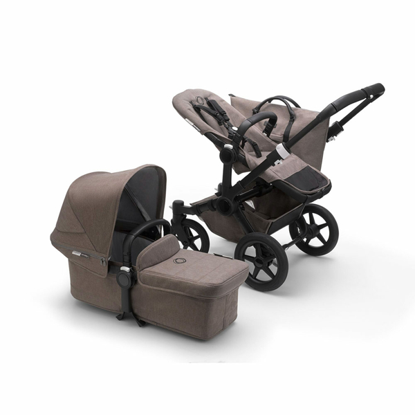 Bugaboo Donkey 3 Duo syskonvagn Mineral Taupe Black